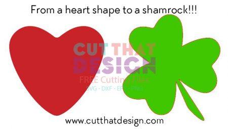 450x255 Design A Shamrock In Silhouette Studio .from A Heart Shape