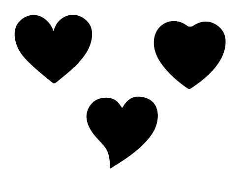 500x350 Free Three Heart Shape Silhouette For This Valentine' S Day 2014