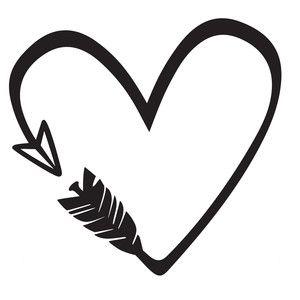 300x300 Heart Arrow Silhouette Design, Arrow And Silhouettes