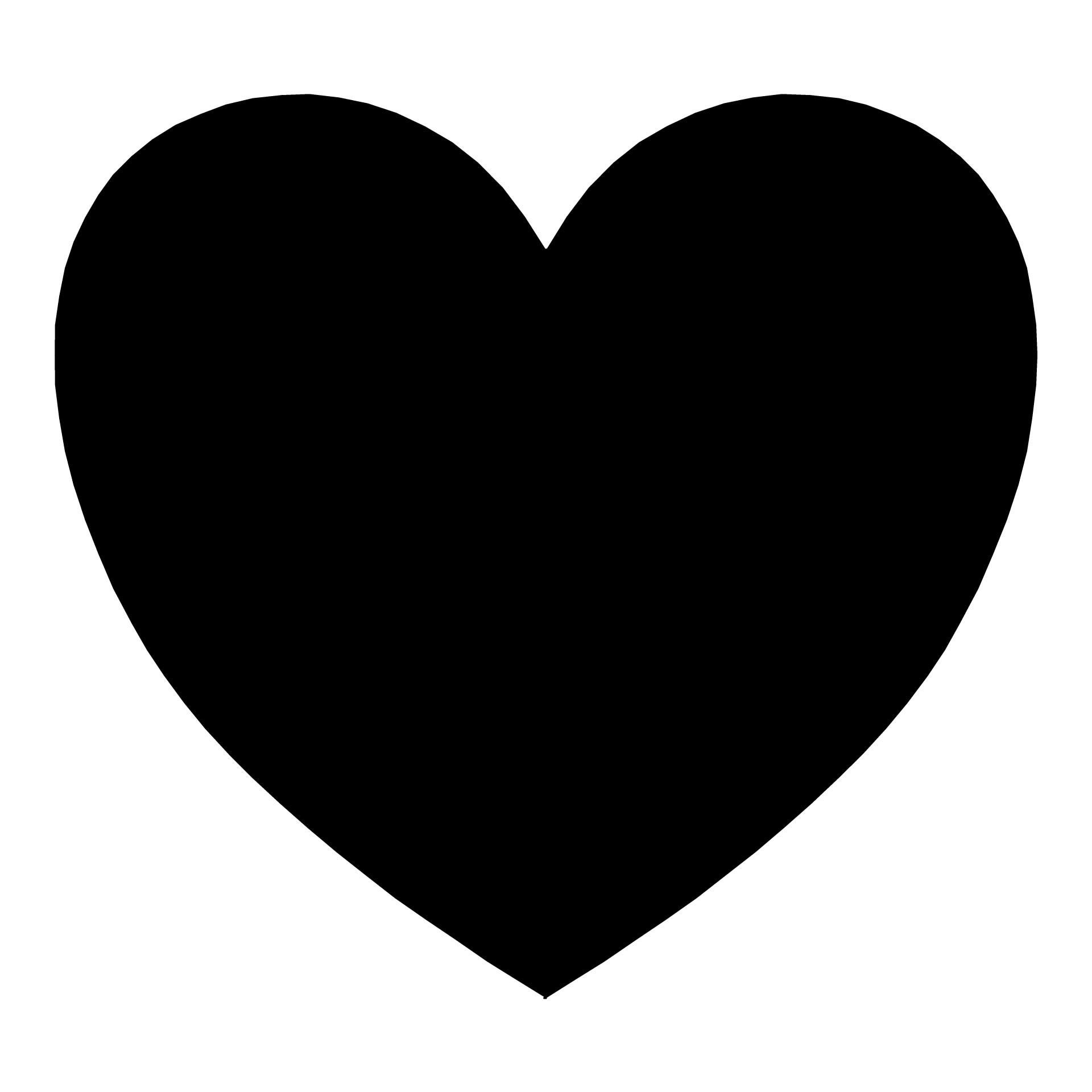 1920x1920 Silhouette Heart Free Stock Photo