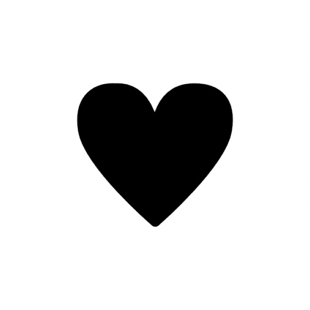 626x626 Simple Black Heart Silhouette Icons Free Download