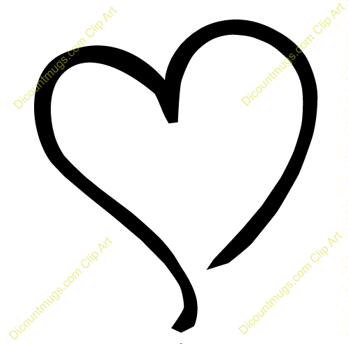 500x494 Heart Clipart Heart Tilted To The Left Keywords One Heart