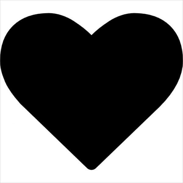 600x600 Heart Silhouettes