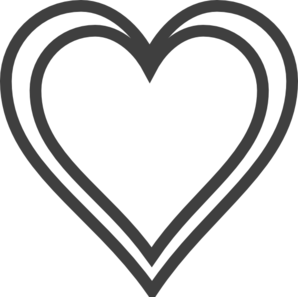 298x297 Double Heart Outline Clip Art