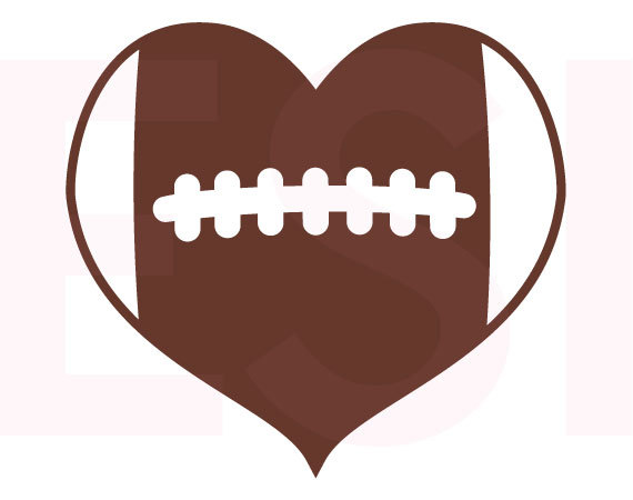 570x450 Football Heart Design, Svg, Dxf, Eps, Cutting Files For Use