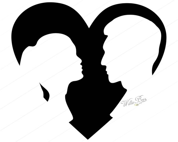 570x456 Heart Shape With Couple 12 Inches Png And Svg Silhouette