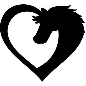 300x300 Horse Heart Silhouette Design, Silhouette And Horse