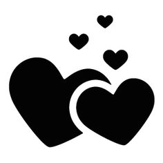 236x236 Loving Heart Silhouette Vector Free Download Silhouette Clip Art