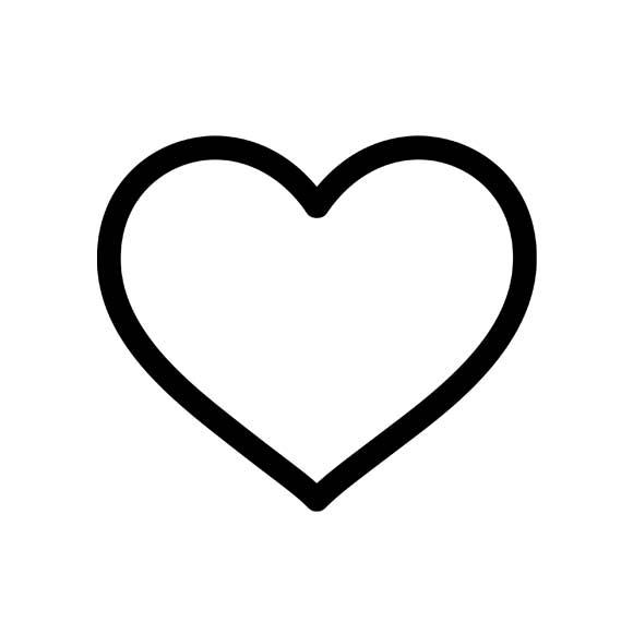580x580 Heart Outline Tattoo