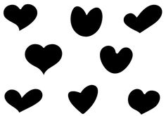 236x165 Heart Silhouettes Vector Download Heart Vectors Valentines