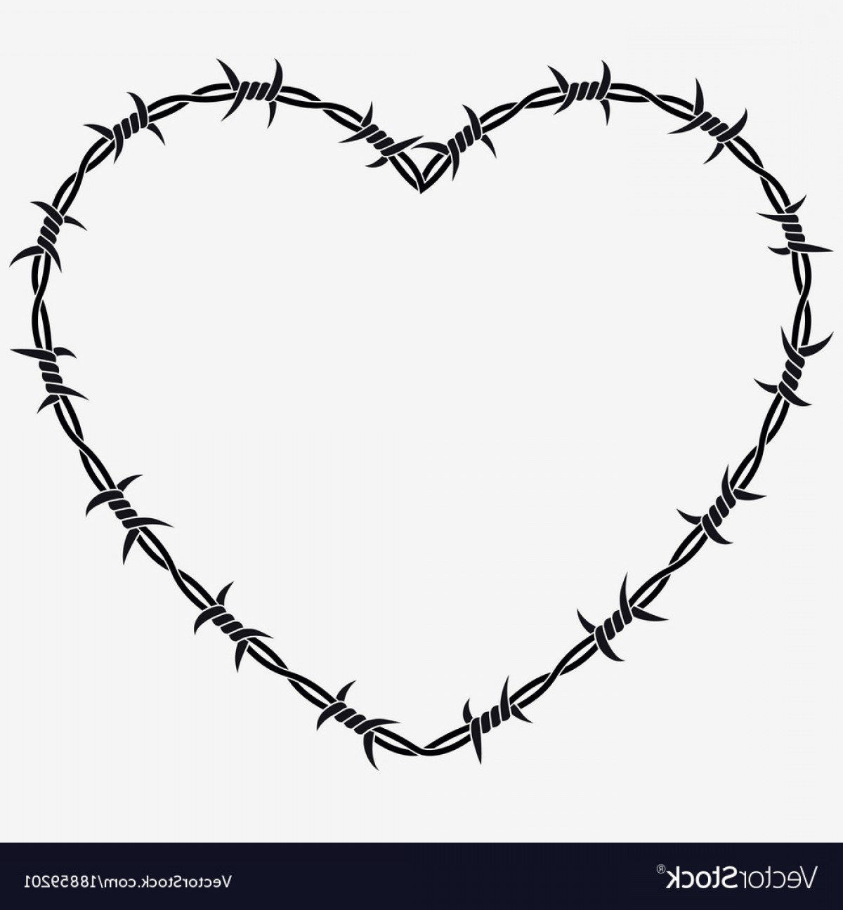 1200x1296 Shape Of Heart Silhouette Of Barbed Wire Vector Createmepink