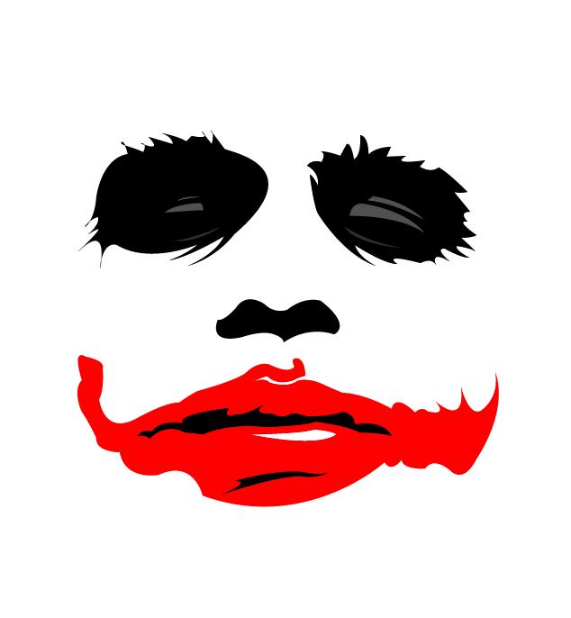 634x686 Joker Face Stencil Joker Stencil By Blaze 01 The Joker Heath
