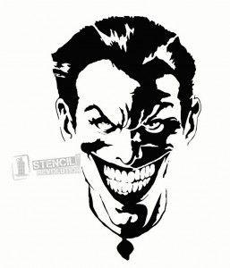 257x300 Joker Stencil Marvel Amp D.c. Universe Art Joker