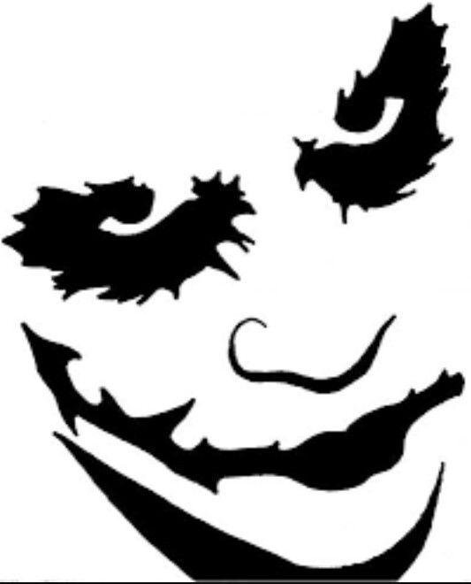 533x660 Joker Stencil