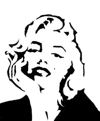 330x400 Marilyn Monroe Stencil 12x12 Svg'S