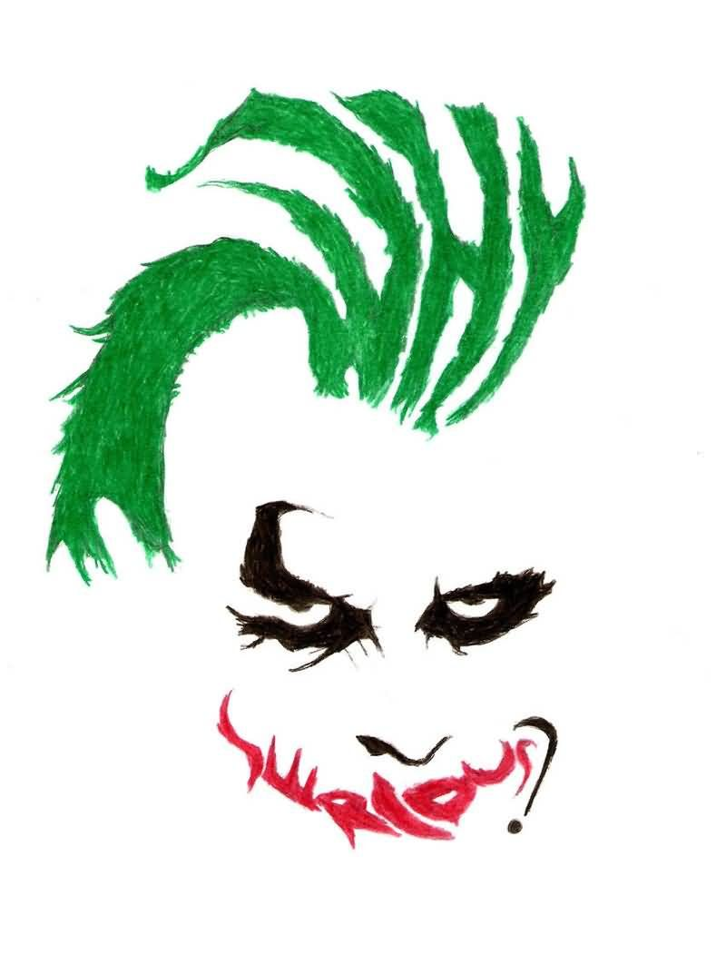 800x1073 Why So Serious Tattoo Famous Why So Serious Joker Face Tattoo