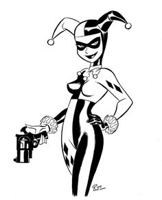 236x292 Harley Quinn Silhouette Black And White