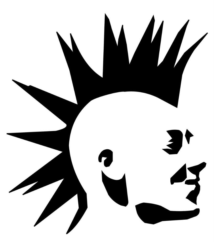 898x1020 Punk Symbol Skull
