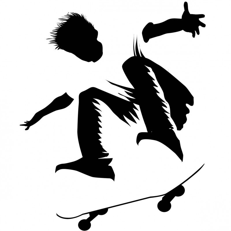 800x800 Diy Silhouette Of The Perfect Skater Boy Template Stencil