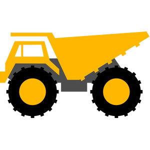 300x300 Dump Truck Construction Dump Truck, Silhouette Design And Silhouette