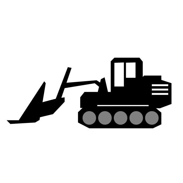 640x640 Bulldozer Heavy Machinery Construction Site Clip Art