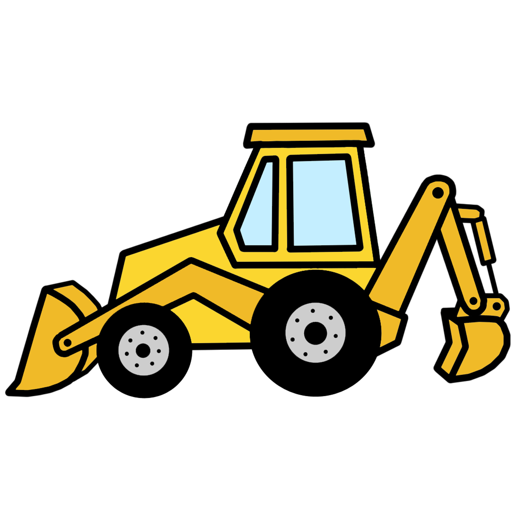 2000x2000 Cat Backhoe Clipart Equipment Caterpillar Equipment