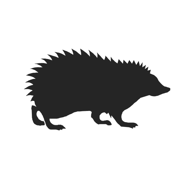 640x592 Hedgehog Clipart Silhouette