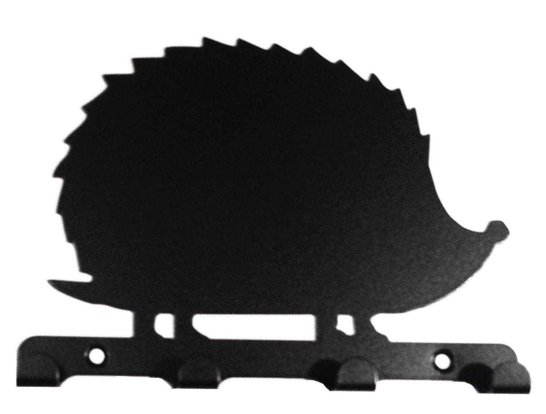 1500x1139 Hedgehog Silhouette Key Hook Rack Metal Wall Art