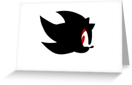 441x283 Shadow The Hedgehog Silhouette Greeting Cards By Aritzi Redbubble