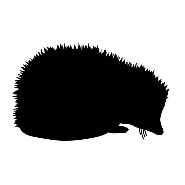 640x640 Hedgehog Animal Silhouette Free Illustrations