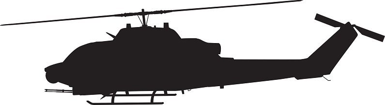 795x217 Helicopter Silhouette Stock Vectors