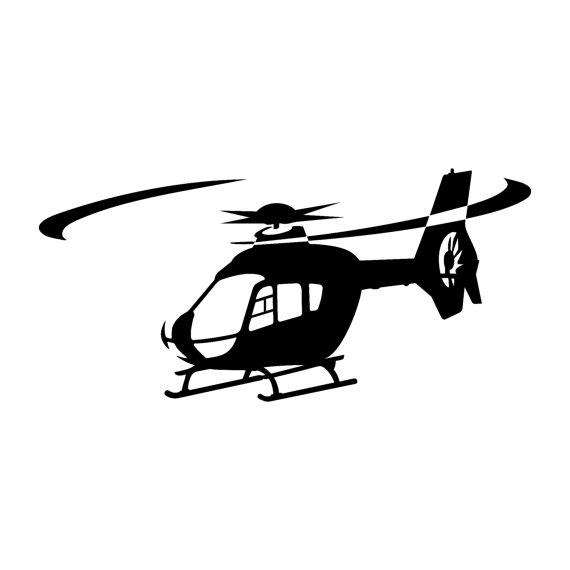 570x570 Eurocopter Ec 135 Helicopter Decal