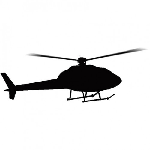 500x500 Helicopter 1 Silhouette