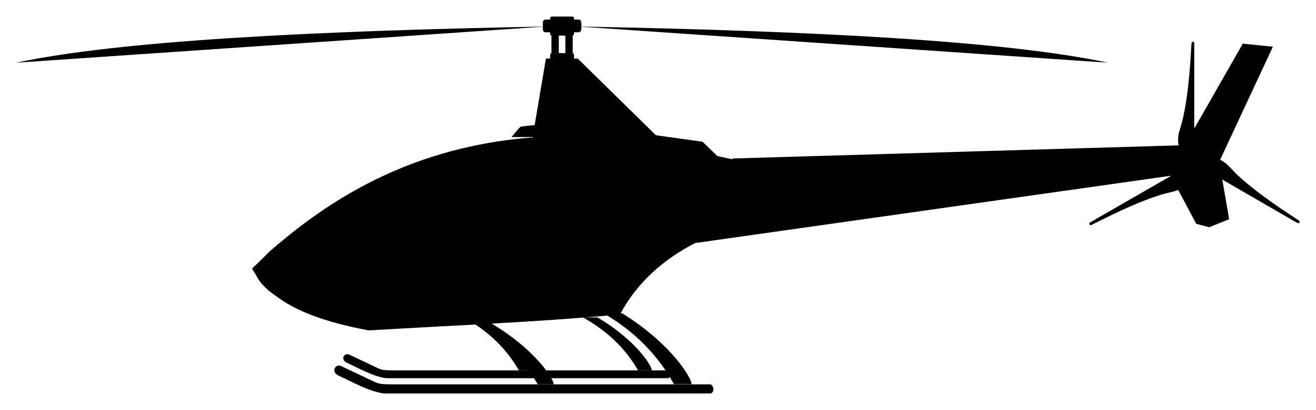 2625x818 Helicopter Clipart By Dg Ra Silhouette Clipart