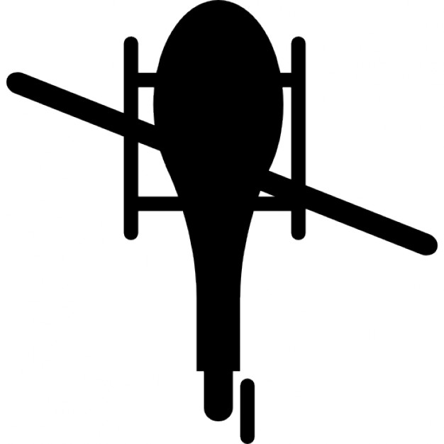 626x626 Helicopter Bottom View Silhouette Icons Free Download