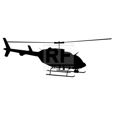 400x400 Helicopter Silhouette Royalty Free Vector Clip Art Image