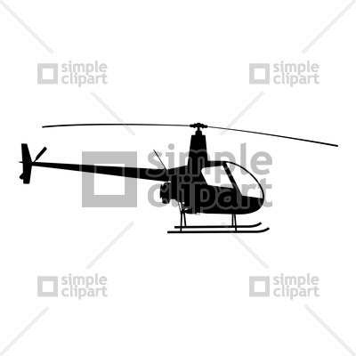 400x400 Helicopter Silhouette Vector Image