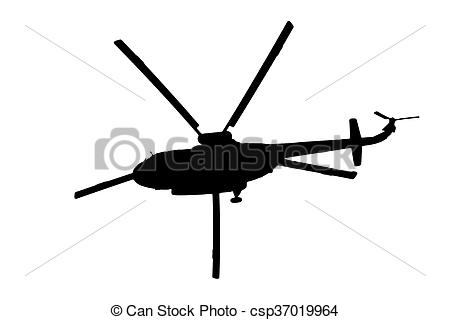 450x320 Helicopter Silhouette On A White Background Stock Image