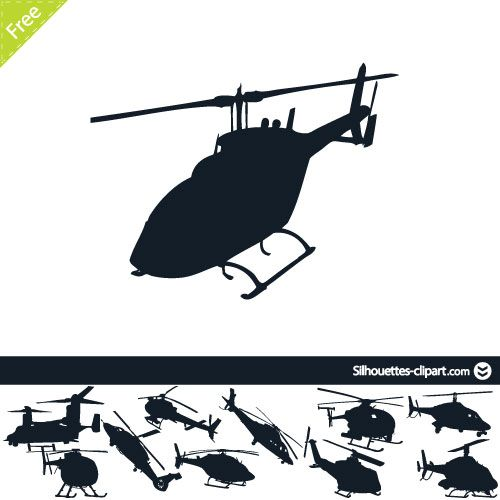 500x500 Helicopter Vector Silhouettes Silhouettes Clipart Silhouettes
