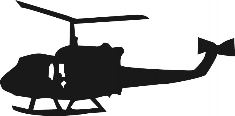 800x395 Laser Cut Appliques Helicopter Silhouette Applique