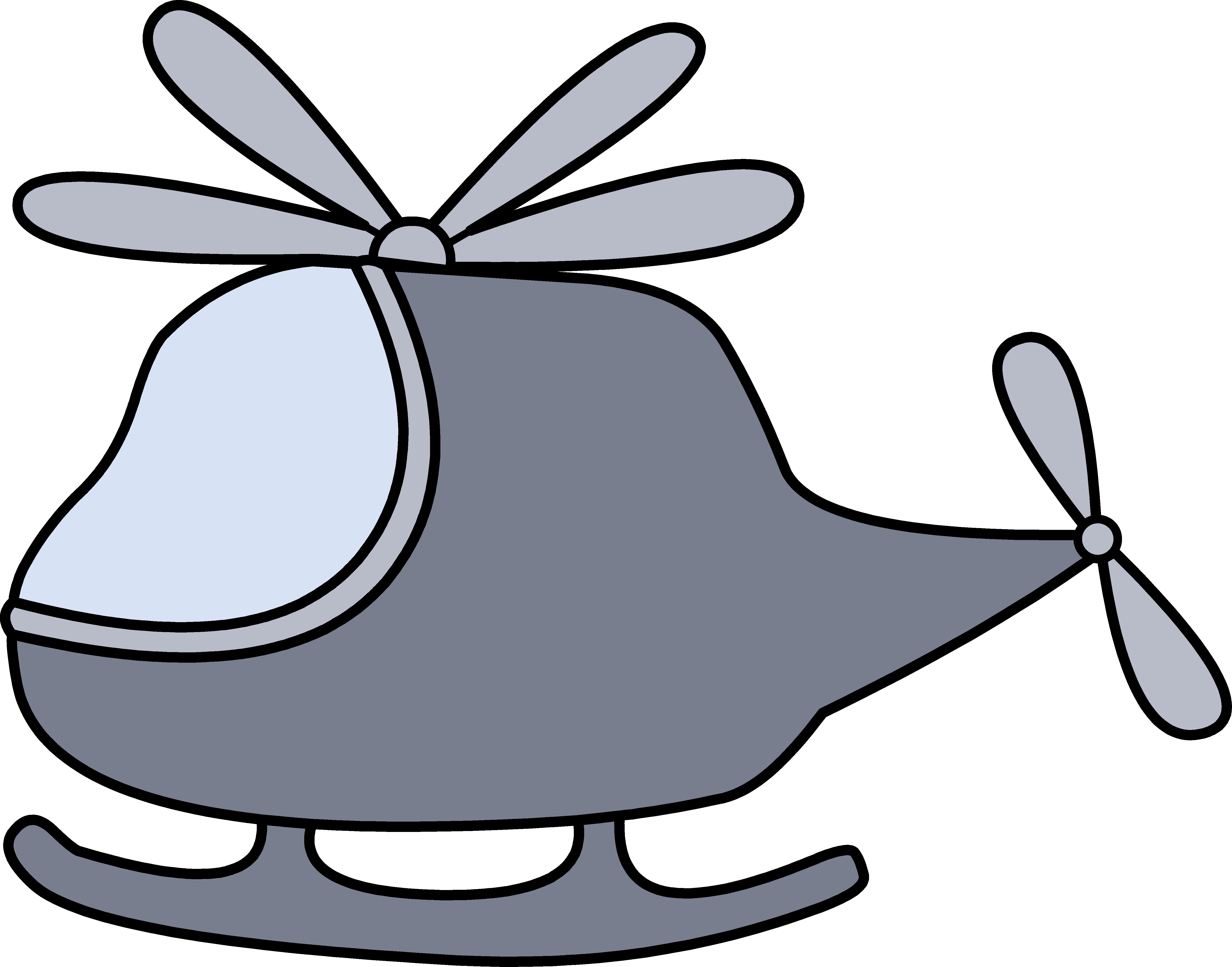 5475x4296 Little Gray Helicopter Clipart