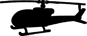 368x152 Photo Helicopter Silhouette
