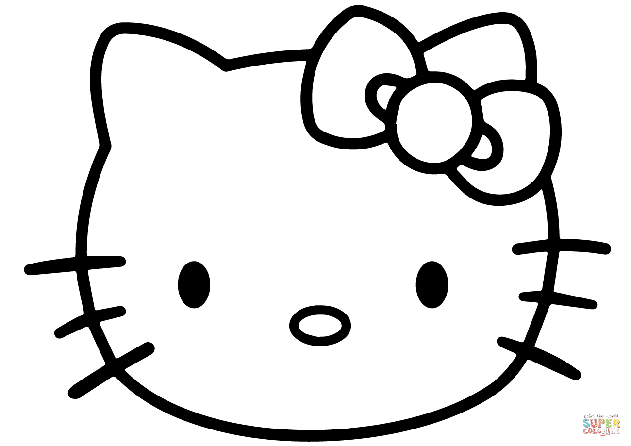 1300x919 hello kitty face coloring page free printable coloring pages