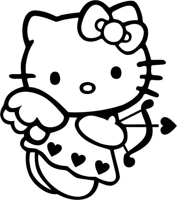 570x644 Hello Kitty Png Digital File Stencil Vector Cut File Cricut