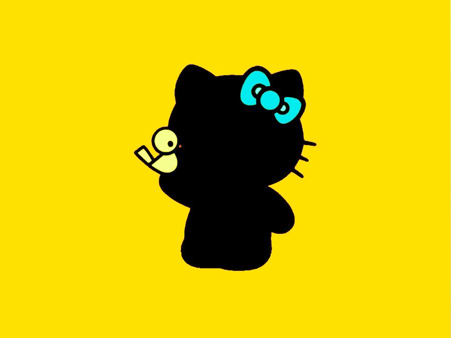 900x675 Hello Kitty Silhouette By Slitkitten