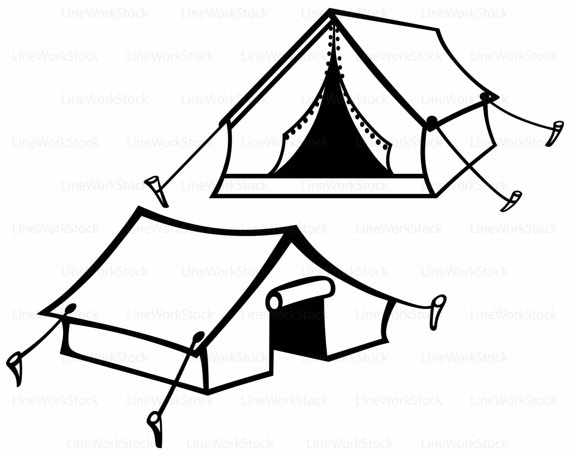 570x456 Bright And Modern Tent Clipart Hello Kitty Coloring Pages Tourist