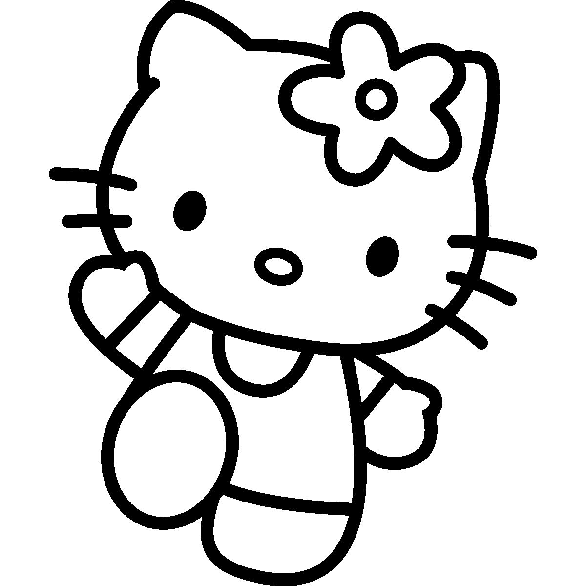 Hello Kitty Silhouette At Getdrawings Com Free For Personal Use