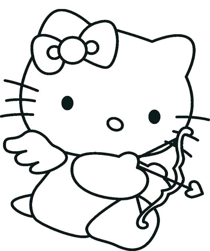 700x838 Pixels Silhouette Ideas Pixels Hello Kitty Nerd Coloring Pages