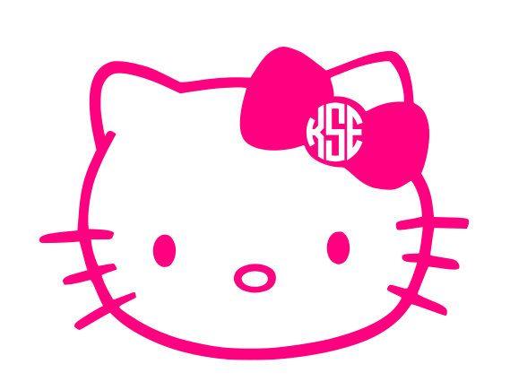 569x435 Hello Kitty Circle Monogram Vinyl Decal By Katiebuggadesigns