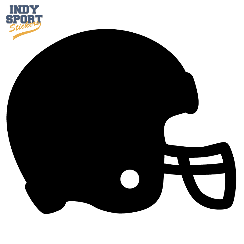 800x800 Football Helmet Silhouette Decal Or Sticker For Your Car, Window